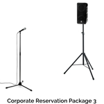 Rock n Roll Rentals CORPRESPKG3 Corporate Reservation Package 3 Portable PA